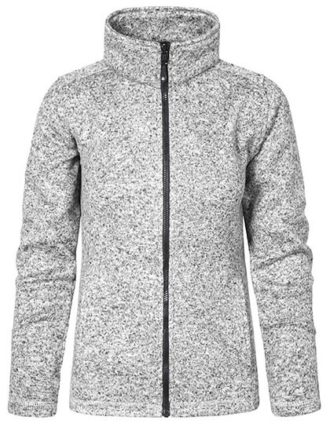 Womens Knit Fleece Jacket C+ Promodoro - heather grey