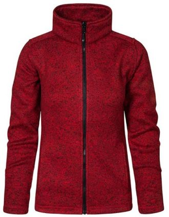 Womens Knit Fleece Jacket C+ Promodoro - heather red