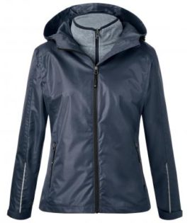 Ladies 3-In-1-Jacket James & Nicholson - navy silver