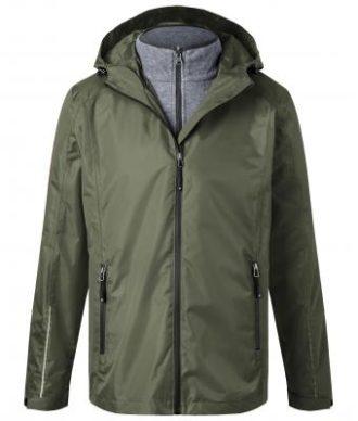 Mens 3-In-1-Jacket James & Nicholson - olive black