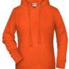 Ladies' Bio Hoody James & Nicholson - orange