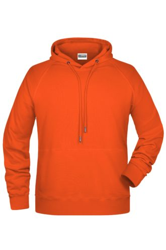Men's Bio Hoody James & Nicholson - orange