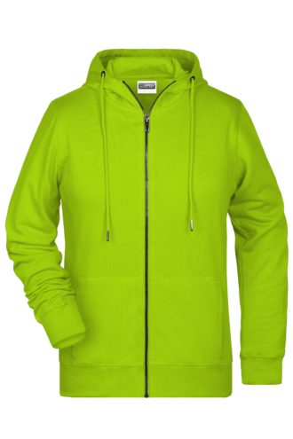 Ladies' Bio Zip Hoody James & Nicholson - acid yellow