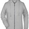 Ladies' Bio Zip Hoody James & Nicholson - ash