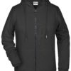 Ladies' Bio Zip Hoody James & Nicholson - black