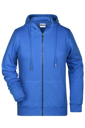 Ladies' Bio Zip Hoody James & Nicholson - cobalt