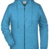 Ladies' Bio Zip Hoody James & Nicholson - glacier melange