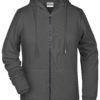 Ladies' Bio Zip Hoody James & Nicholson - graphite