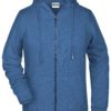 Ladies' Bio Zip Hoody James & Nicholson - light denim melange