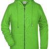 Ladies' Bio Zip Hoody James & Nicholson - lime green