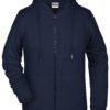 Ladies' Bio Zip Hoody James & Nicholson - navy