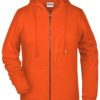 Ladies' Bio Zip Hoody James & Nicholson - orange