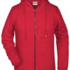 Ladies' Bio Zip Hoody James & Nicholson - red