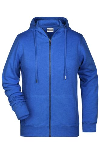 Ladies' Bio Zip Hoody James & Nicholson - royal heather