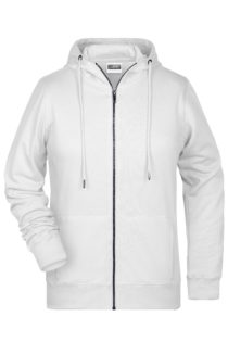 Ladies' Bio Zip Hoody James & Nicholson - white