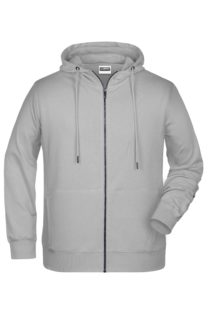 Men's Bio Zip Hoody James & Nicholson - ash