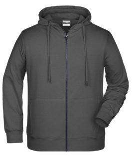 Mens Bio Zip Hoody James & Nicholson - graphite