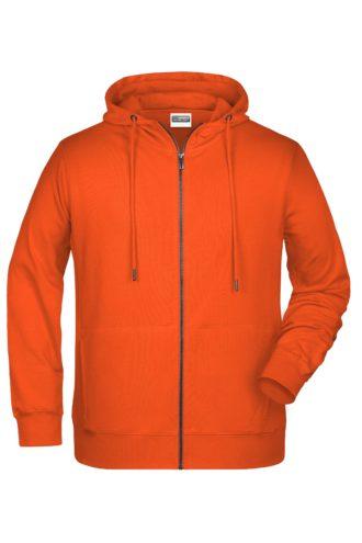 Men's Bio Zip Hoody James & Nicholson - orange