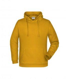 Basic Hoody Man James & Nicholson - gold yellow