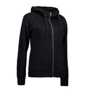 Identity Core Full Zip Damen Hoodie - schwarz