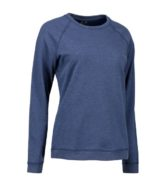 Identity Core O-Neck Damen Sweat - blau meliert