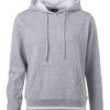 Ladies' Club Hoody James & Nicholson - grey heather white