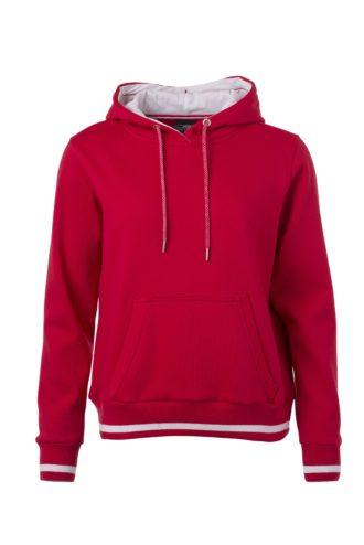 Ladies' Club Hoody James & Nicholson - red white