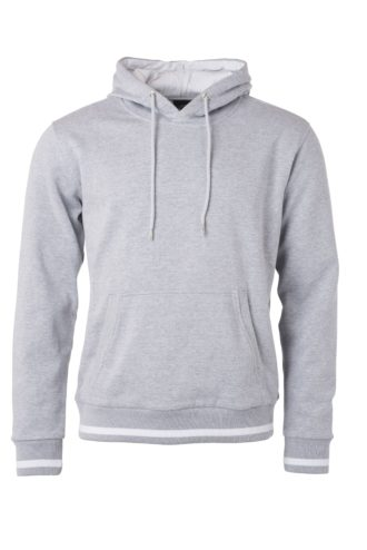 Men's Club Hoody James & Nicholson - grey heather white