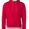 Men's Club Hoody James & Nicholson - red white