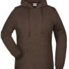Basic Hoody Lady James & Nicholson - brown