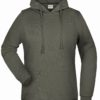 Basic Hoody Lady James & Nicholson - dark grey