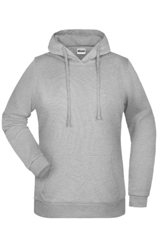 Basic Hoody Lady James & Nicholson - grey heather