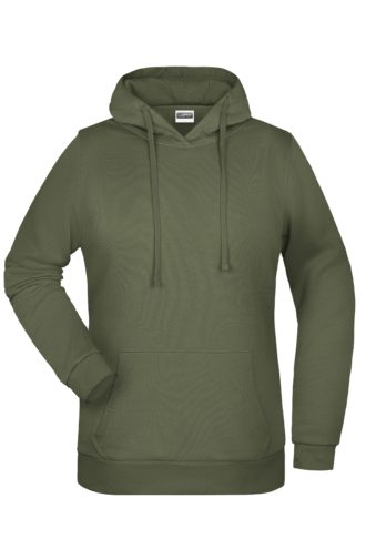 Basic Hoody Lady James & Nicholson - olive