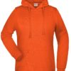 Basic Hoody Lady James & Nicholson - orange