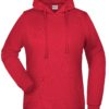 Basic Hoody Lady James & Nicholson - red