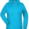 Basic Hoody Lady James & Nicholson - turquoise