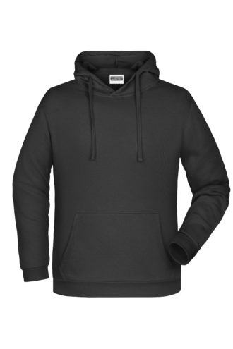 Basic Hoody Man James & Nicholson - black