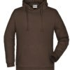 Basic Hoody Man James & Nicholson - brown