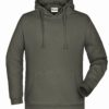 Basic Hoody Man James & Nicholson - dark grey