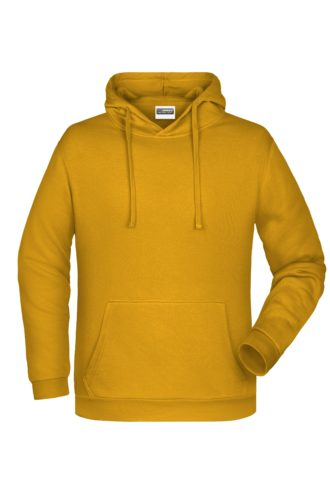 Basic Hoody Man James & Nicholson - gold yellow