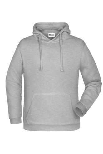 Basic Hoody Man James & Nicholson - grey heather