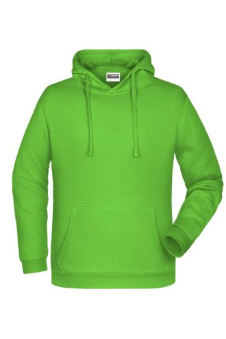 Basic Hoody Man James & Nicholson - lime green