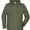 Basic Hoody Man James & Nicholson - olive