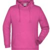 Basic Hoody Man James & Nicholson - pink
