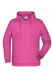 Basic Hoody Man James & Nicholson - pink