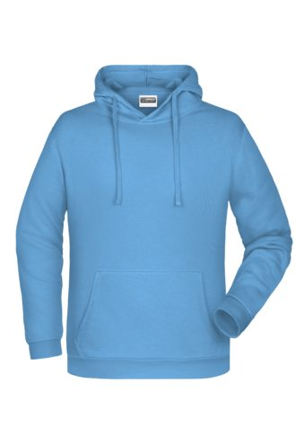 Basic Hoody Man James & Nicholson - skyblue