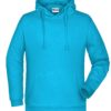 Basic Hoody Man James & Nicholson - turquoise