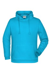 Basic Hoody Man James & Nicholson - turquoise