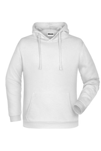 Basic Hoody Man James & Nicholson - white