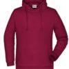 Basic Hoody Man James & Nicholson - wine
